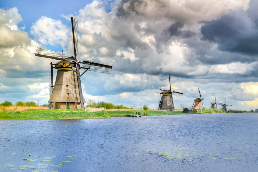 Football camps Holland - traditional windmills