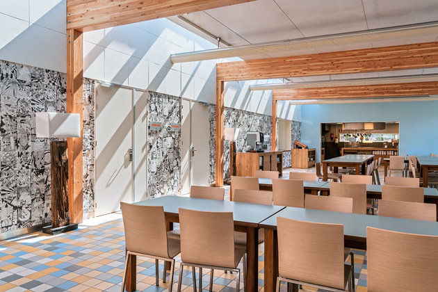 Football camps Holland - Egmond, the interior of the hotel